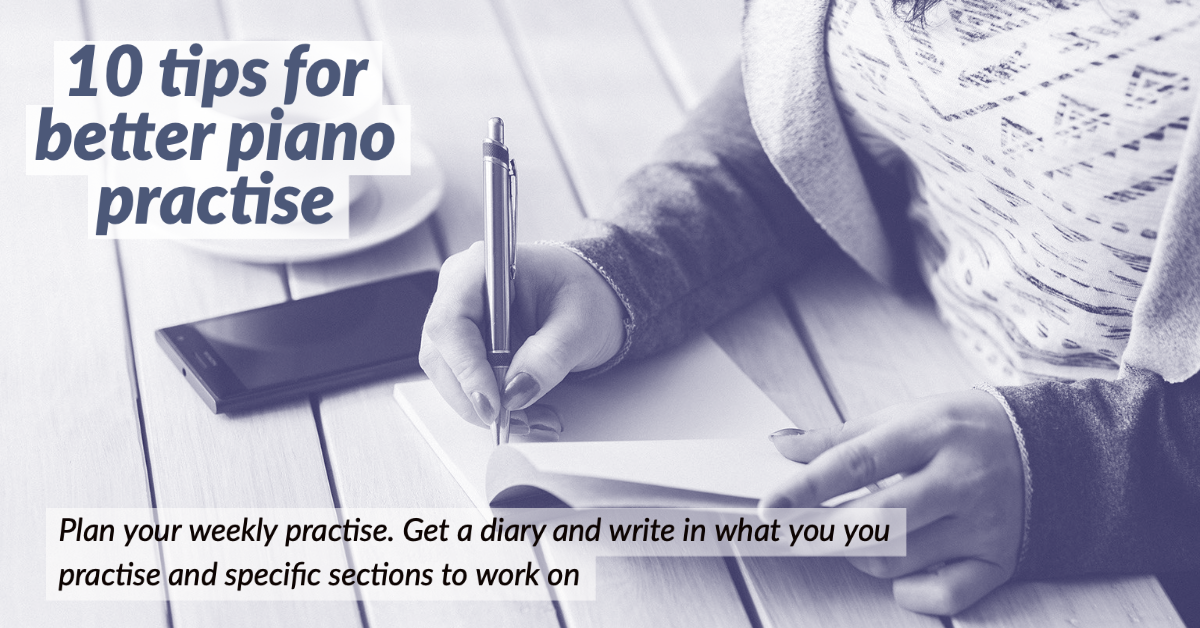 plan your piano practise