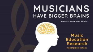 Musicians have bigger brains. Music and neuroscience.